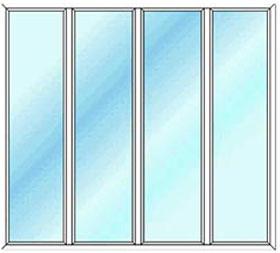 پنجره دو جداره چهارلنگه